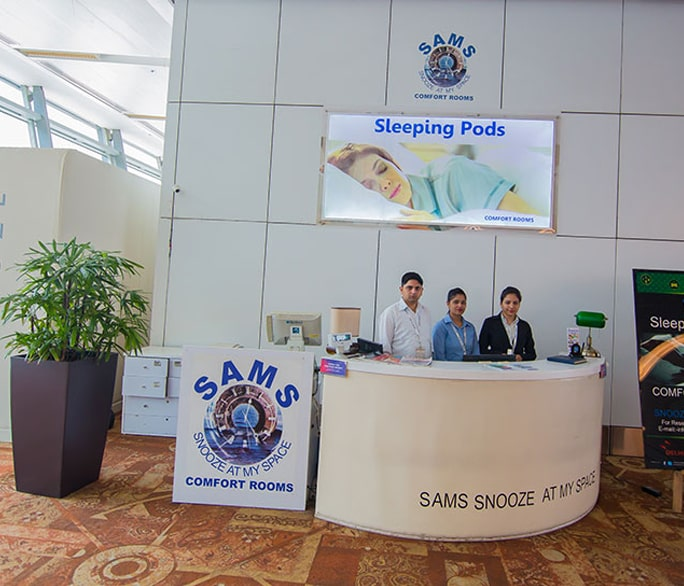 Image of Sleeping pods service desk