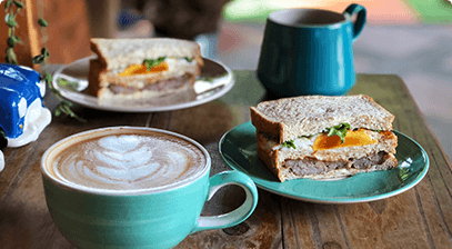 Image of sandwiches and coffee